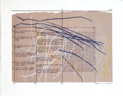 Mary Kelly's 'Post Partum.' 'Post Partum' is a visual diary of Mary Kelly's experiences with her new born son.