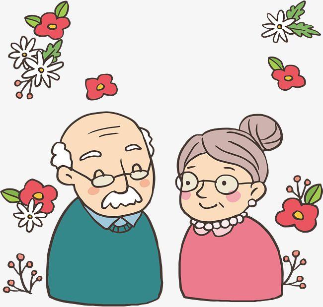 Картинка для открытки бабушка с дедушкой