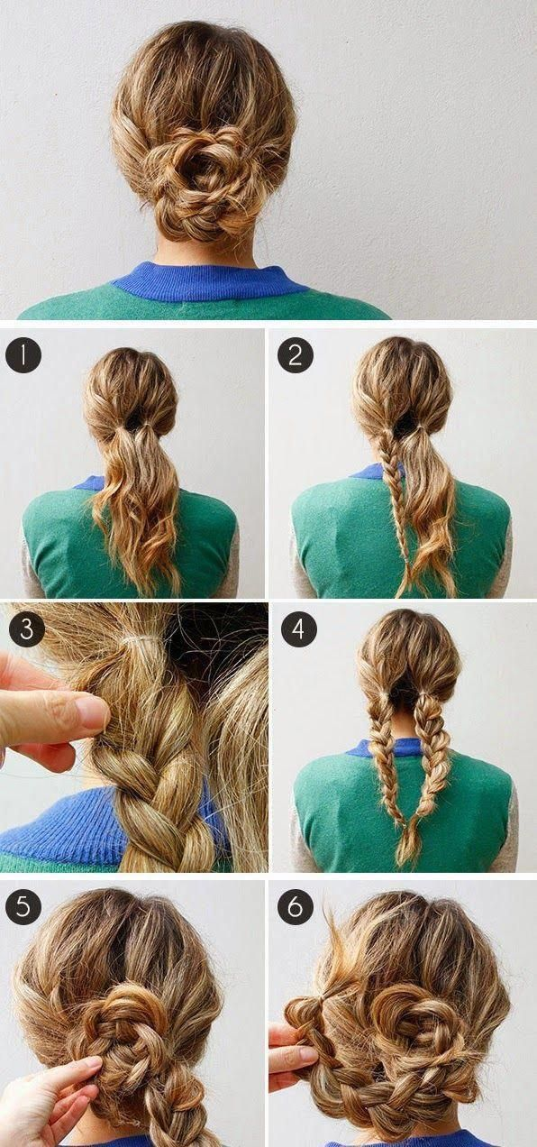 Everyday Hairstyles   Easy Updos For Medium Length Hair ...