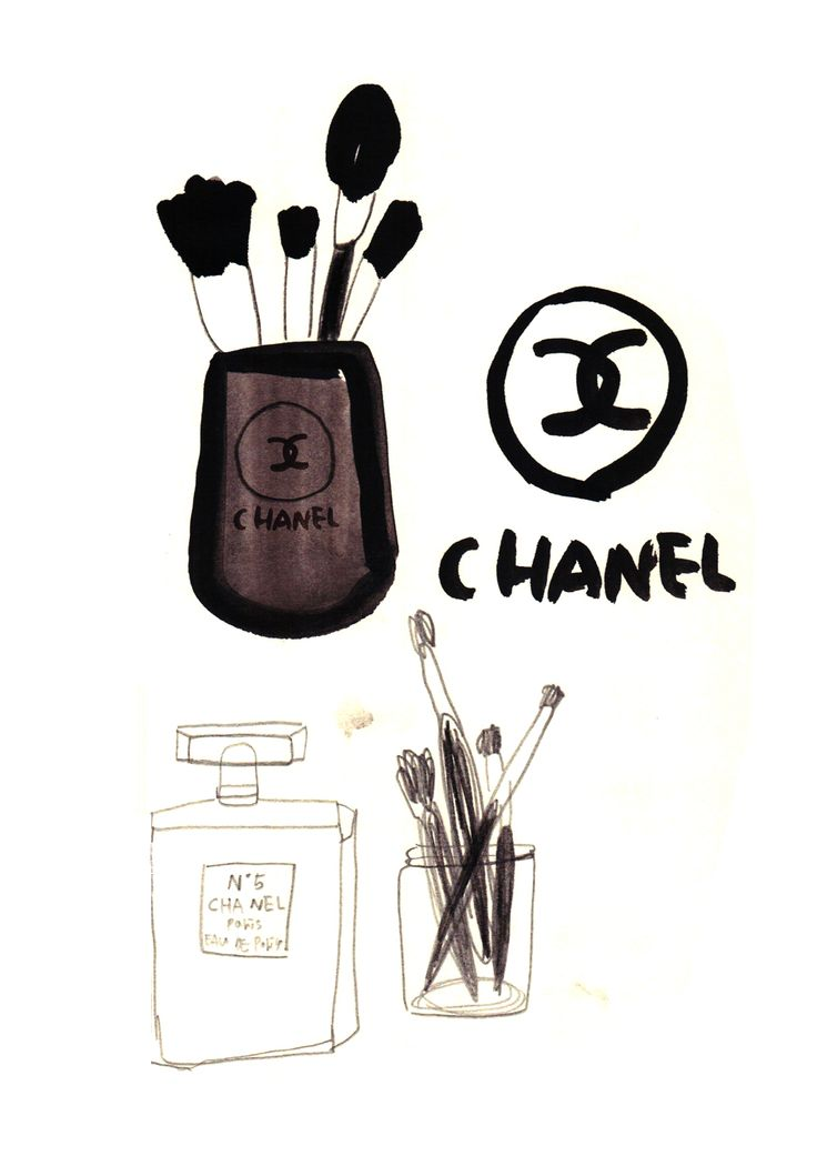 chanel cosmetic drawing drawing by elma