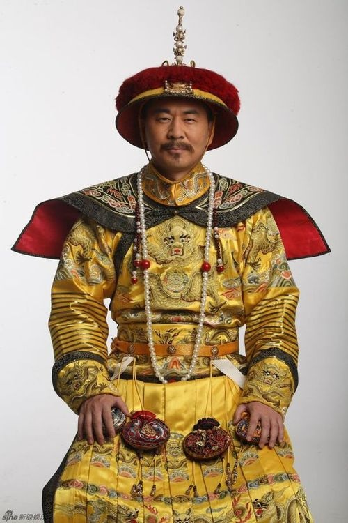 Stage photo of the hot Chinese history drama____《后宫甄嬛传》,It is classic Chinese emperor's clothing in Qing dynasty.