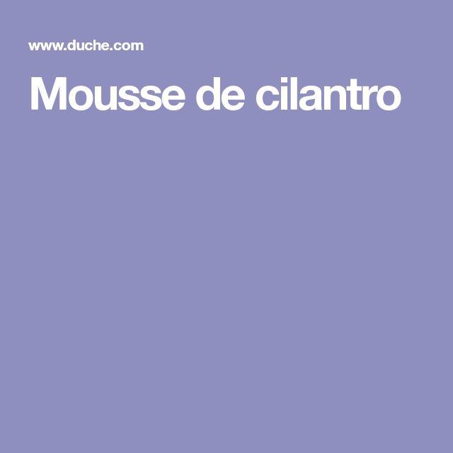 Mousse de cilantro