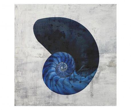 Tablou Nautillus Black & White Indigo 40x40 cm