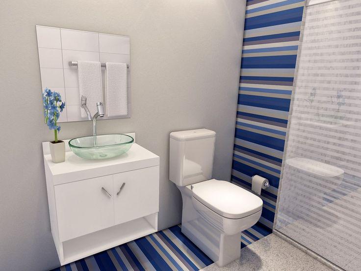 Gabinete para Banheiro com Cuba e Espelho 2 Portas  VTec Kit Mizar  Cuba e  -> Armario Banheiro Vazado