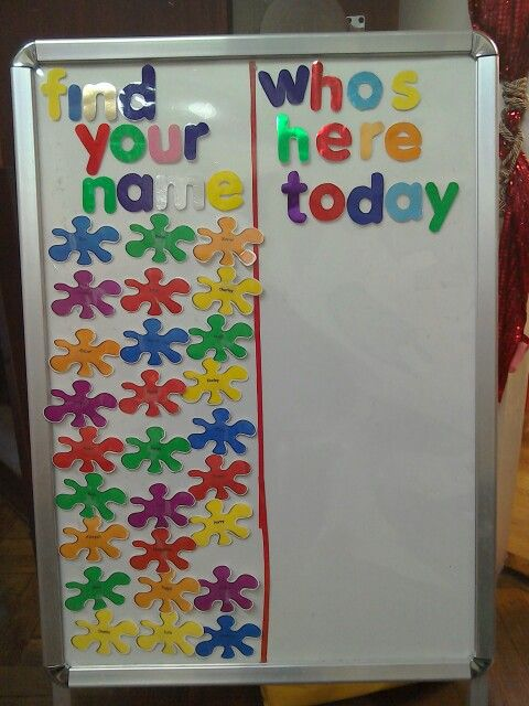 Preschool self registration board #selfregistration #preschool #nursery