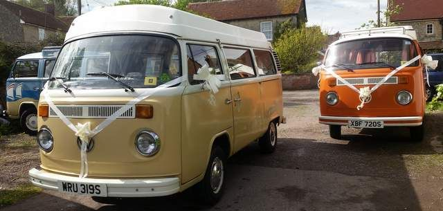 Our Camper vans love getting dressed up for a good wedding
