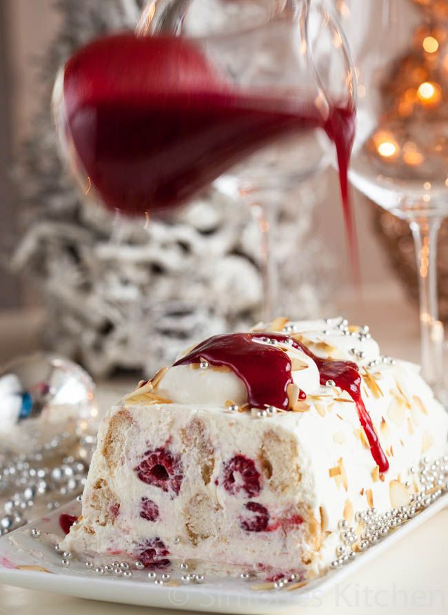 Mascarpone raspberry trifle for christmas dessert | insimoneskitchen.com