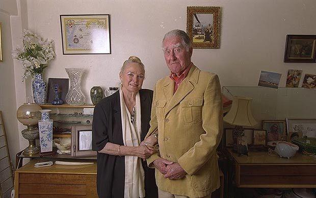 Prince Roy Bates of Sealand, with Princess Joan Bates (nee Collins)