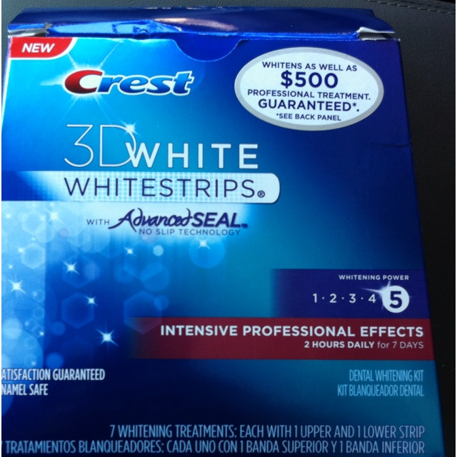 Crest 3 D White Strips. Intensive Professional Effects.
