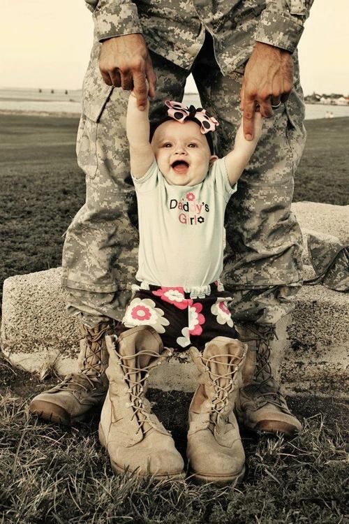 Army family... I don't know why I haven't taken any photos like this. Ava has done this since she was itty bitty!