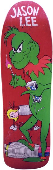 Blind Skateboards Jason Lee Grinch Deck early 90's. Click on pic to purchase!