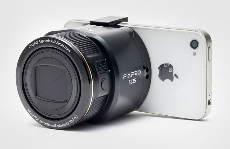 The Kodak PixPro SL10 and SL25 are self-contained lens-style cameras that have everything needed to take and store images, while using your iOs or Android smartphone as the viewfinder. The SL10 includes a 10x optical zoom, 1080p video, 28-280mm wide angle lens, and optical image stabilization (OIS). The SL25 adds 25x optical zoom and a 24mm ultra-wide-angle lens. They will both be available in spring 2014. ($200+)