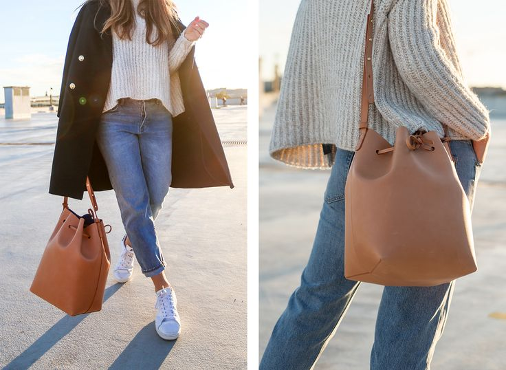 Denim: GAP | Sneakers: Adidas | Bag: Mansur Gavriel | Coat: Zara | Sweater: Zara.