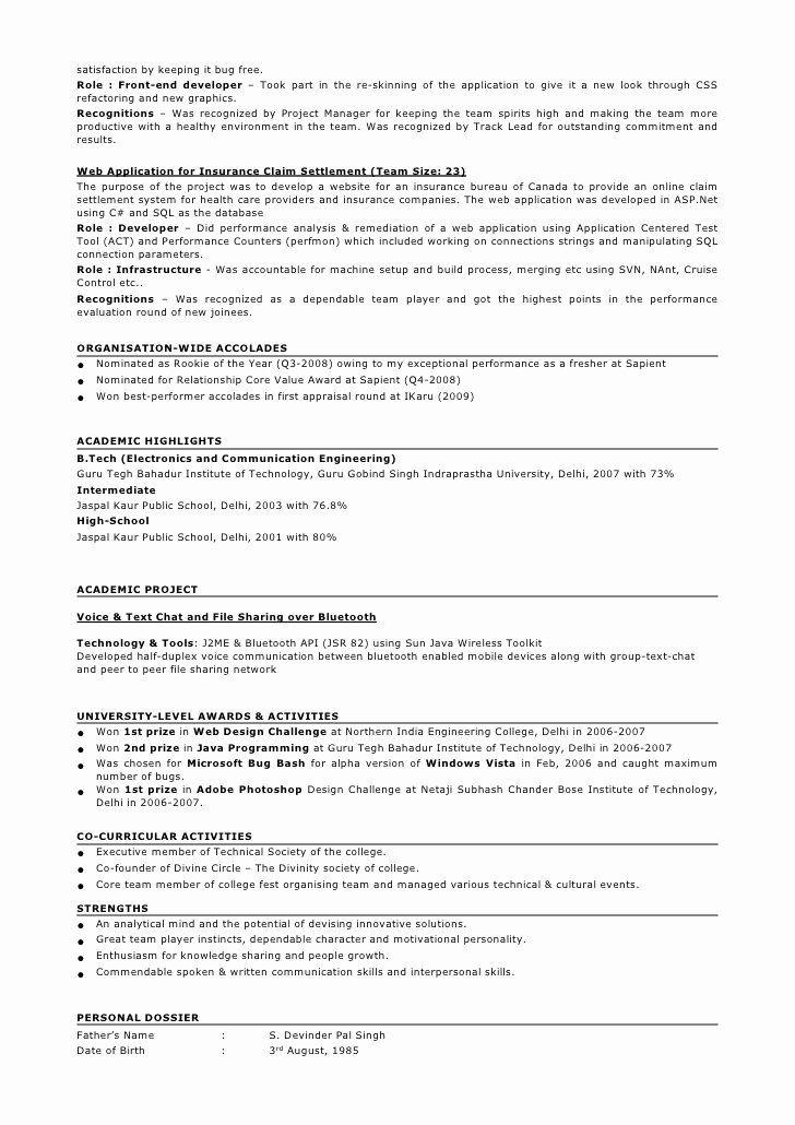 Java Developer Resume 3 Years Experience Lovely Resume Taranjeet Singh 3 5 Years Java J2ee Gwt Job Resume Samples Resume Format Job Resume Examples