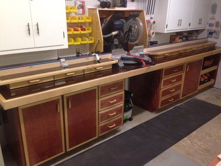 A Stationery Work Bench Is Great Addition To Any WorkshopA More Solid Being Attached The Wall