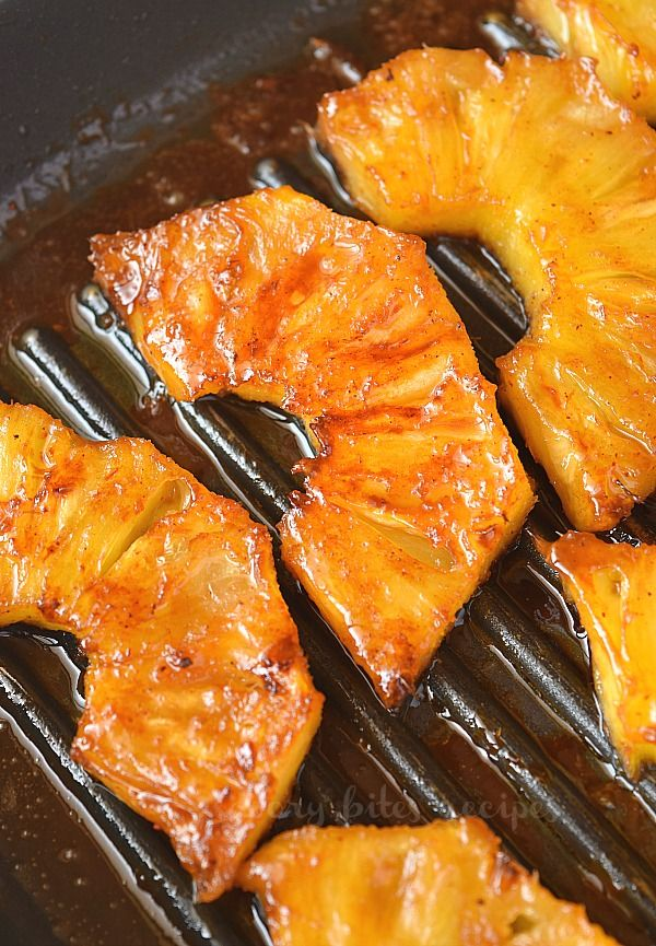 Best Grilled Pineapple Slices With Brown Sugar And Cinnamon