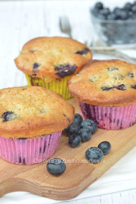 FLuweelzachte Muffins met blauwe bessen Delicious blueberry muffin recipe!