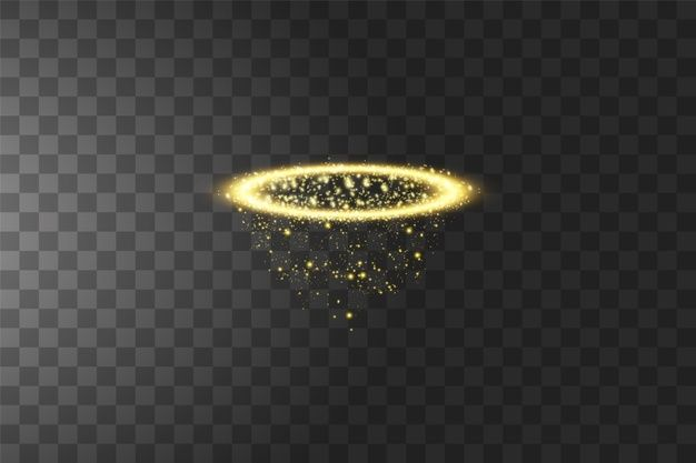 Golden Halo Angel Ring Isolated On Black Transparent Background Illustration In 2021 Angel Ring Halo Transparent Background