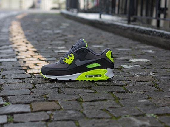size 40 e9e0e b1ab7 Nike Air Max 90 Essential - Grey - Volt - SneakerNews.com   Just my style   Nike  air max, Air max 90 grey, Air max 90
