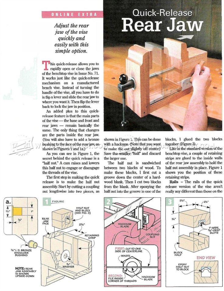 DIY Bench Vise - Workshop Solutions
