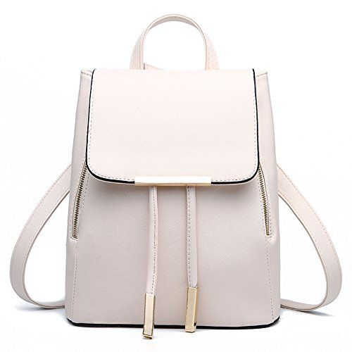 New Trending Backpacks: Vincico174; Womens Beige white Casual Purse Fashion School Leather Backpack Shoulder Bag Mini Bags. Vincico174; Womens Beige white Casual Purse Fashion School Leather Backpack Shoulder Bag Mini Bags  Special Offer: $22.98  111 Reviews Color: Black Material: PU leather Backpack Dimension: 23*28*16cm/9.0*11.0*6.2in (W*H*D) Interior: 1 x main pocket, 1 x zipper pocket, 2 x mini pocket...
