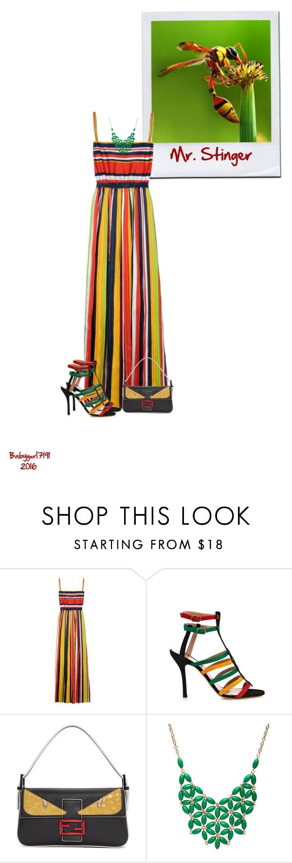 """""""Insects Series 3/5- Wasps Mr. Stinger"""" by babygurl7191 ❤ liked on Polyvore featuring Dsquared2, Sophie Theallet, Fendi and Alexa Starr"""