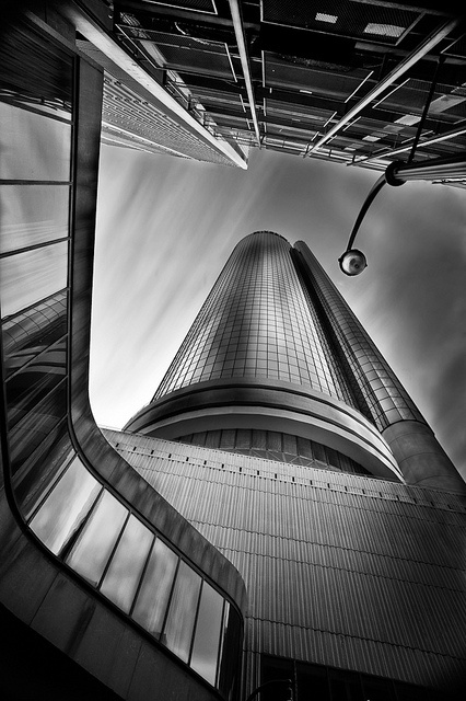 A very beautiful shot of the Westin Peachtree Plaza Hotel in downtown Atlanta by James Duckworth.