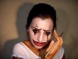 Resultado de imagen para maquillaje payaso diabolico mujer