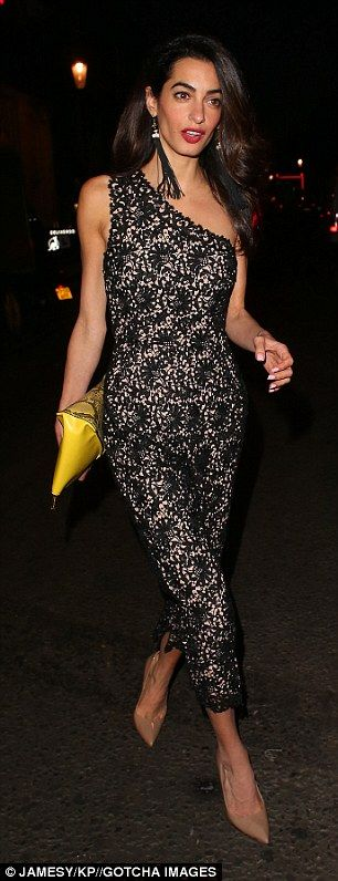 Work hard, play hard:Amal Clooney took time out of her busy work schedule in order to enj...