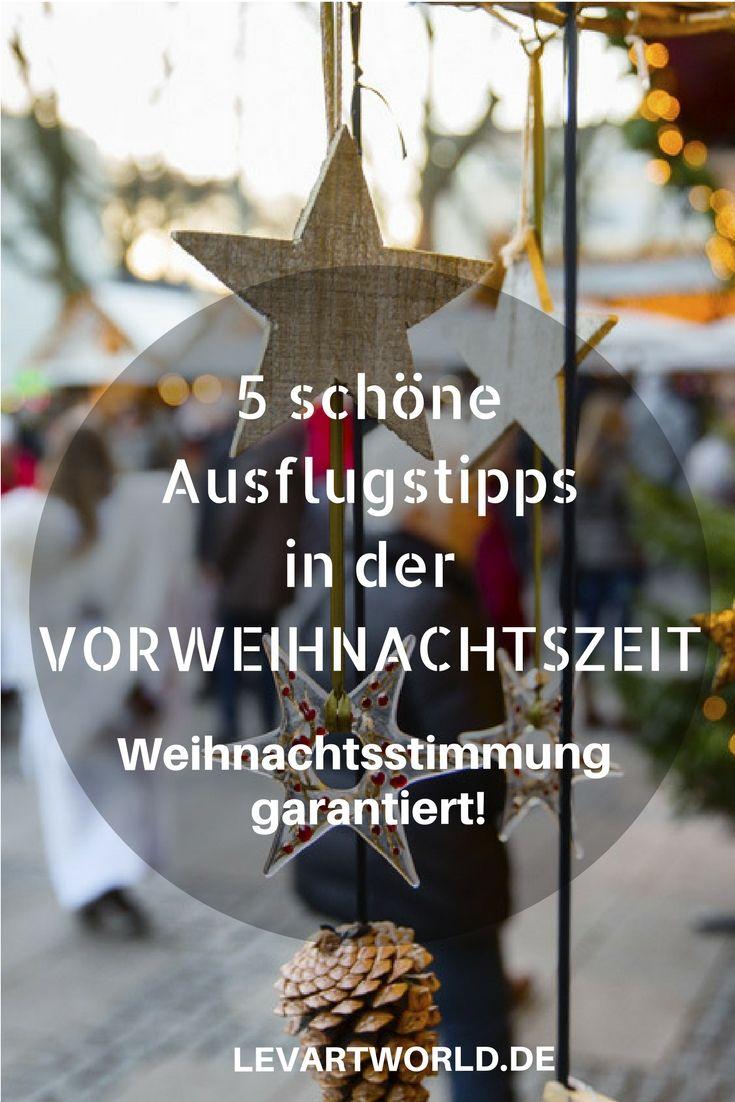 5 Ausflugsziele in der Vorweihnachtszeit 2017 in Deutschland – Weihnachtsstimmung garantiert! Weihnachten steht vor der Tür und in ganz Deutschland bereiten sich die Städte auf die Adventszeit vor. Weihnachtsmarktbuden werden aufgebaut, die Straßen hell beleuchtet und überall hängen Lichterketten und bunter Schmuck. Weihnachten ist ein Familienfest und gerade in der Vorweihnachtszeit gibt es in ganz Deutschland viele, tolle Aktionen und Veranstaltungen für die ganze Familie.