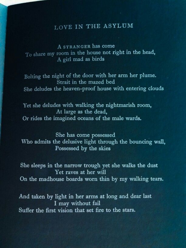 Dylan Thomas, love in the asylum