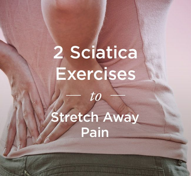 The best way to alleviate sciatica pain is to do a stretch that can externally rotate the hip to provide some relief. Here are two exercises that do just that.