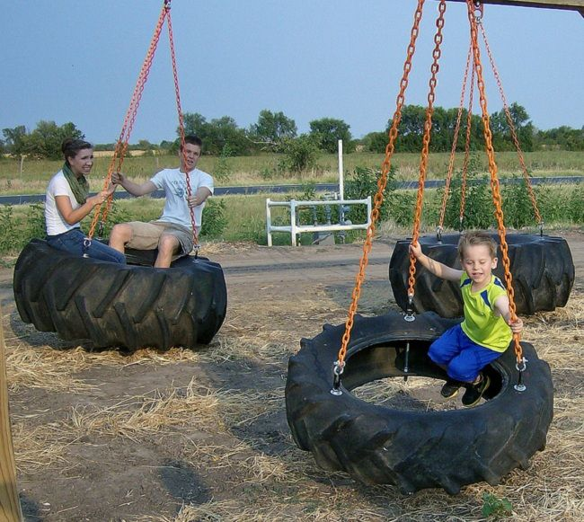 Tractor Tire Swing | Car Tires Ideas