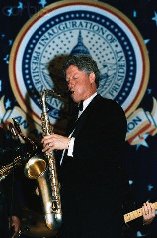 Bill Clinton Playing Saxophone.