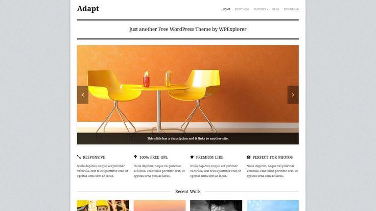 Adapt WP-Theme - Download: http://www.wpexplorer.com/adapt-free-responsive-wordpress-theme