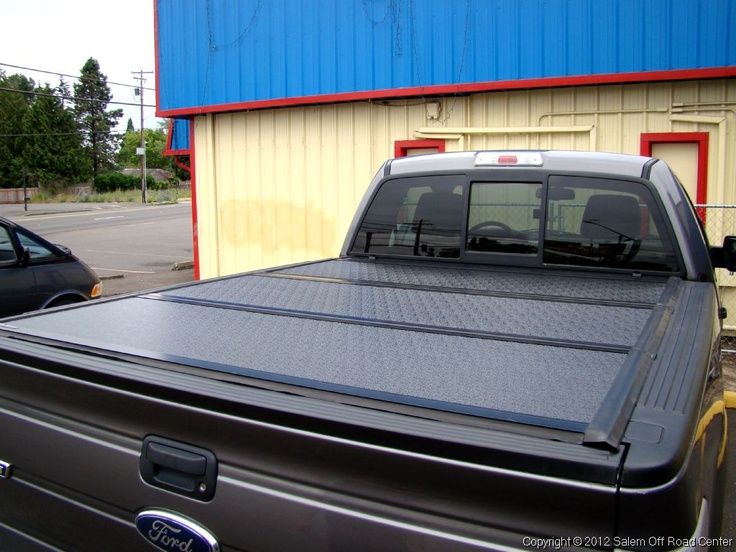 A 2012 Ford F-150 with a UnderCover Tonneau Covers Flex folding cover. http://www.salemoffroadcenter.com/