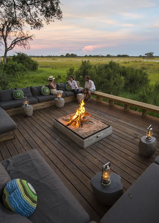 Vumbura Plains Camp - a tried and perfected  Africa safari experience. This luxuriously chic camp/lodge, situated in a private concession in the northern part of the Okavango Delta, Botswana is impressively consistent when it comes to its variety of big game and predators. Timbuktu Travel.