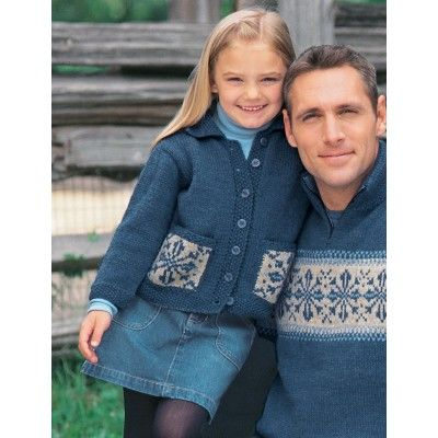 Free Intermediate Child's Cardigan Knit Pattern 4-10 sizes Patrons Pattern & yarn