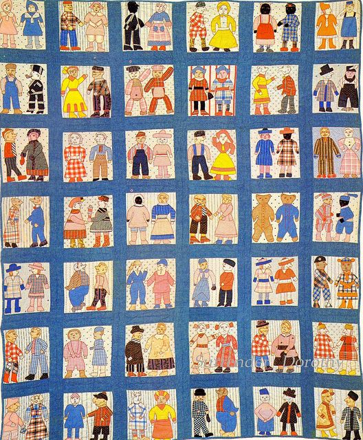 Pieced & Applique Quilt Townsfolk 1916