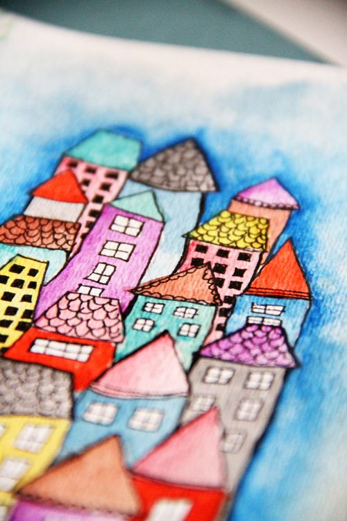 whimsical architecture drawings inspired by artist alisa burke #lessonIdea #arch…