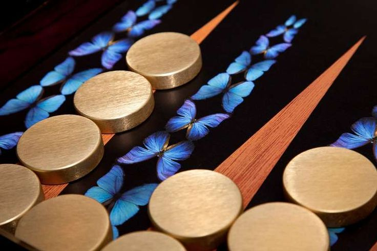 Butterfly Backgammon Board by Alexandra Llewellyn | From a unique collection of antique and modern games at https://www.1stdibs.com/furniture/more-furniture-collectibles/games/