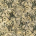 RKC Artisan Batiks Enchanted Butterflies Parchment   On Hancocks of Paducah