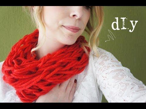 Colsjaal Arm Breien in 30 minuten Voor Dummies, Stap voor Stap een Sjaal Maken - YouTube