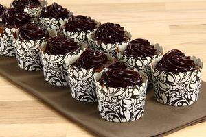 Saftige banan - chokolade cupcakes 4