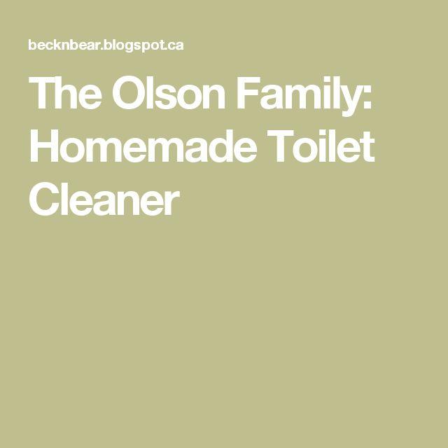 The Olson Family: Homemade Toilet Cleaner