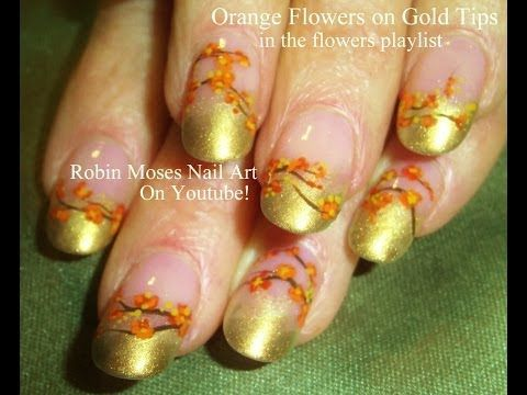 41 best a robin moses nails images on pinterest nail art designs easy fall nail art tutorial diy orange flowers on gold youtube solutioingenieria Gallery
