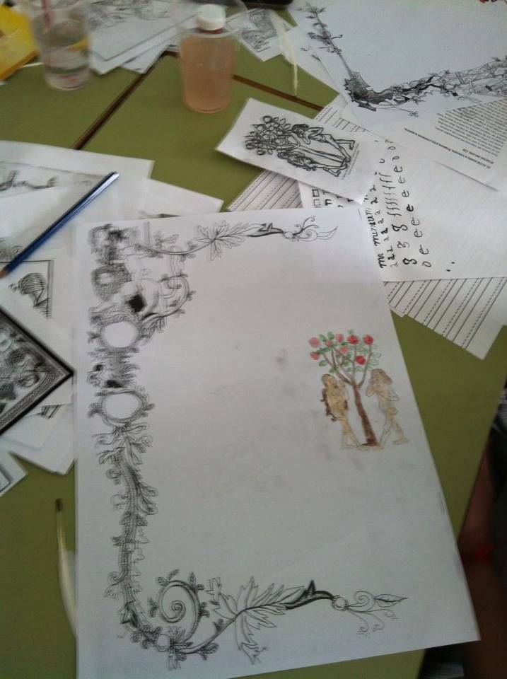 Taller de caligrafía medieval #niños #CaminArt #Valencia