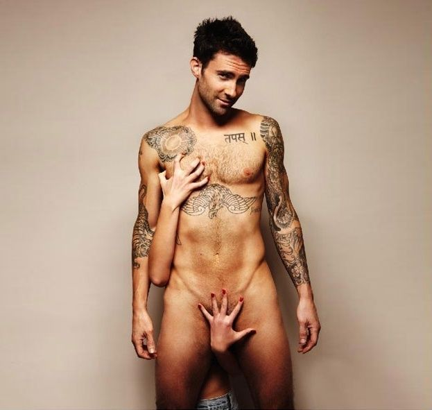 Adam Levine in a campaign about prostate cancer awareness - Well I'm certainly aware ;)