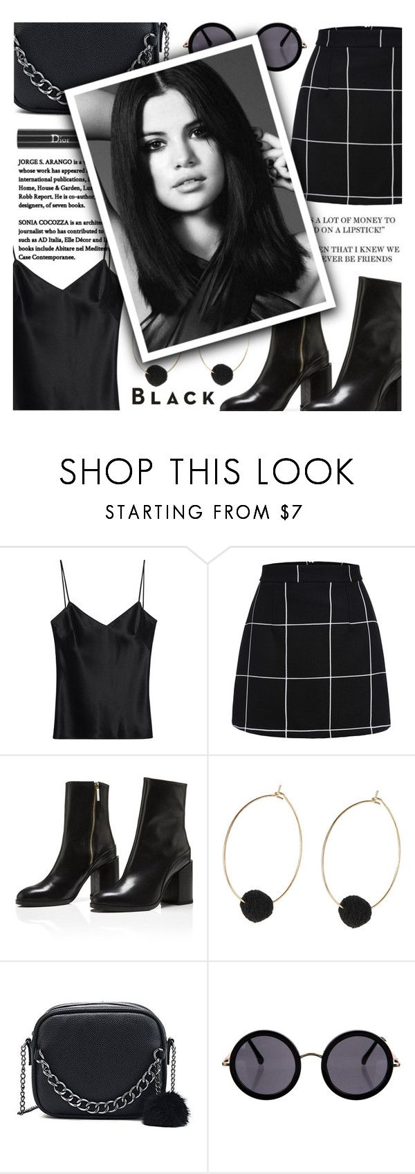 """All Black Everything♣"" by narminabasoffa ❤ liked on Polyvore featuring Galvan, Vision, Christian Dior, The Row and allblackoutfit"
