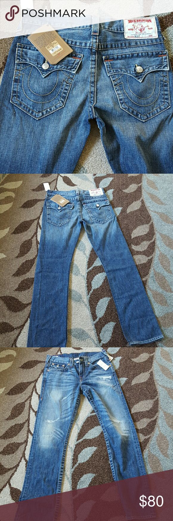 New True Religion mens jeans New with tag True Religion mens jeans size 31 long 33 Ricky straight cut True Religion Jeans Straight